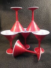 Red Cup Living Reusable Cocktail Cup Martini 12 oz Lot of 6