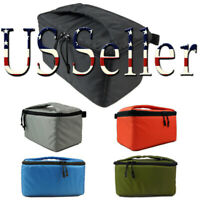 Portable Waterproof DSLR Camera Bag with Zip Padded Case Partition Insert Bag