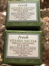 Fresh Vitamin Nectar FACE MASK Vibrancy-Boosting Fruit Complex 2 Jars NIB 1 OZ.