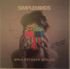 """SIMPLE MINDS """"WALK BETWEEN WORLDS"""" LP WITH SIGNED COVER PRINT BRAND NEW, SEALED"""