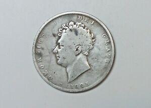 GREAT BRITAIN  SILVER HALF CROWN 1825 . 0.925 SILVER.  GEORGE 1V