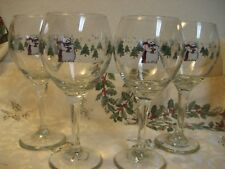 "Pfaltzgraff  SNOW BEAR Snowbear  4 Wine / Water 7 1/2""  Goblet EUC Minty! Lot A"