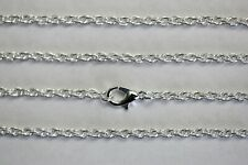 Rope Chain 3 Mm Silver Plated Wholesale Lots Necklace Lot Bulk Usa Seller