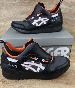 ASICS Onitsuka Tiger Gel-Lyte 3 MT Mens Shoes Black White Orange Sneakers