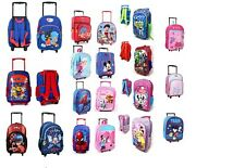 DISNEY KIDS GIRLS BOYS  TROLLEY WHEELED SUITCASE BACKPACK SCHOOL BAG NEW