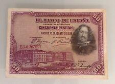 Billet Espagne 50 Ptas SUP 15/08/1928 E6