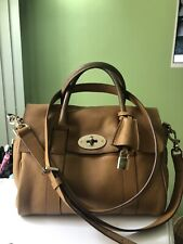 Genuine Mulberry Oak Leather Small Bayswater Satchel Bag