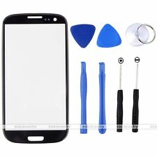 Black Replacement Front Screen Glass Lens Kit For Samsung Galaxy S3 i9300 + Tool
