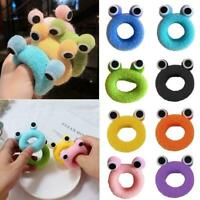 1XPlush Cute Children Hair Accessories Frog Hair Ring Rubber Hair Band HOT R9T2