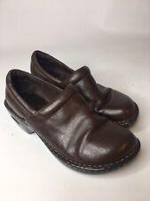 BOC BORN Brown Leather Nurse Clogs Professional Work Shoes Women US 7 M / EU 38