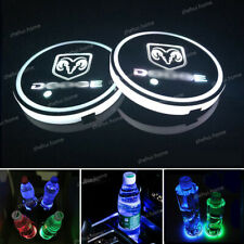 2x Colorful LED Car Cup Holder Pad Mat for Auto Interior Atmosphere Lights