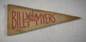 Very Rare BILLY MYERS 1936-1938 BF3 Player Mini Pennant-CINCINNATI REDS