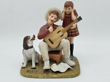 """The Norman Rockwell American Family Porcelain Figurines """"Music Man"""""""