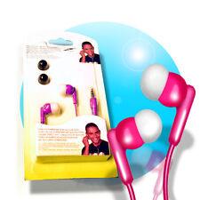 IN EAR STEREO Kopfhörer 3,5mm Klinke Stereokopfhörer Silikon Ohrstöpsel Magenta