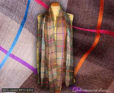 très belle étole en Laine et en Soie à rayures multicolores - CH200