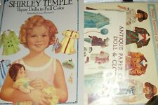Paperdolls 2 books: Shirley Temple & Old Fashion Reproductions! New Activity!