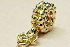 PANDORA 14k Gold Trinity Diamond Flower Dangle Charm Pendant 750407D 585 Ale