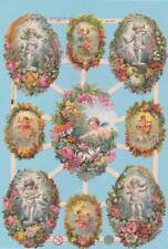 Wafers, Poetry Pictures, Scrap Angel / Elves with flower wreath EF 7364