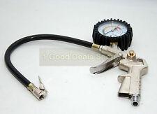 Tyre Tire Air Line Inflator Dial Pressure Meter Gauge Compressor Car Van Truck