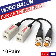 10Pairs 200M Range For HDCVI/AHD/TVI camera Twisted BNC CCTV Video Balun