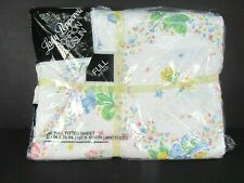 Vintage Lady Pepperell Sheets Full Fitted Floral Print No Iron Muslin New Nos