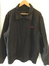 VANS VTG. Full Zip Garage Mechanic Jacket BLACK Insulated Lining ORIG.SKATE Sz.L