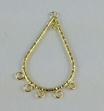 16 PCS Gold Plate teardrop Hoop Earrings W/loops *20740