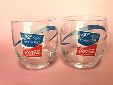 Athens 2004 Olympic Game Coca-Cola Glass set Cup Rare Fs epacket Quick delivery