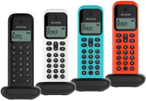 Téléphone Fixe Sans Fil Alcatel Amplifié Noir Bleu Blanc Rouge Répertoire 50 Nom