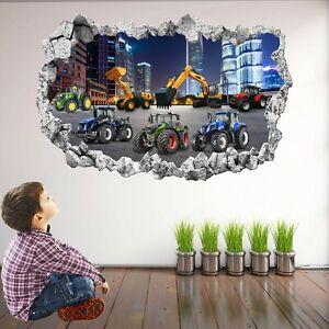 Tractor Excavator Digger Wall Sticker Decal Mural Poster Print Art Decor KR3