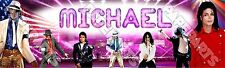 "Michael Jackson Poster 30"" x 8.5"" Personalized Custom Name Painting Printing"