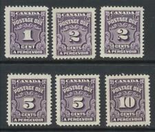 1935 Postage Due 1c, 2c, 5c, & 10c (6 Stamps) #J15, #J16, #J18, #J20 M/NH & M/NG