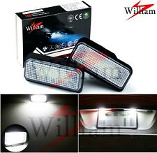 2 Bulb LED License Plate Light White High Power For Benz CLS-Class W219 Sedan
