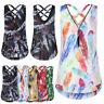 Women Summer Chiffon Casual Vest Sleeveless T Shirt Blouse Loose Tank Top UK8-34