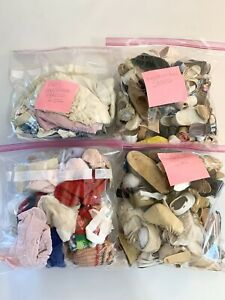 Grab Bag Lot of Doll Socks, Underwear & Mismatched Shoes Various Sizes