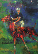 LEROY NEIMAN BOOK PRINT BRITAIN;S YOUNG PRINCE CHARLES ON PONY IN A POLO MATCH
