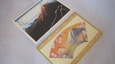 Japanese Greeting & Christmas Cards 2pieces set Beautiful Picture Free Shipping