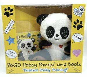 Pogo Potty Panda and Book Positive Potty Training Talks Washable NIB