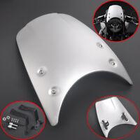 Silver Headlight Cowl Fairing Visor Windshield For BMW R NINE T 9 T NINET 14-17