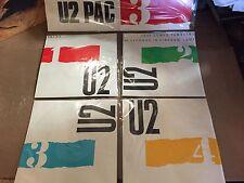 U2 PAC THREE 45's Four Record Set IRELAND vg