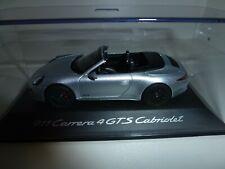 NEU original PORSCHE 911 991 Carrera 4 GTS Cabrio WAP 0201030F silber 1:43 NEU