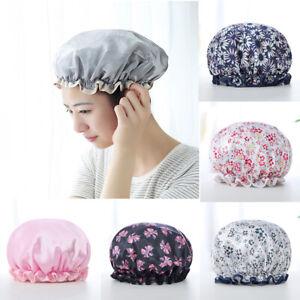 Girls Elastic Bath Hat Womens Reusable Waterproof Kids