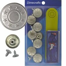 17 mm No-Sew Replacement Jean Tack Buttons w/Tool (2835C)  8 CT.