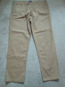 KANGOL MENS CASUAL LIGHT BROWN TROUSERS SIZE 42R EXCELLENT CONDITION