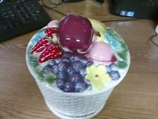 Fruit Basket Ceramic Cookie Jar