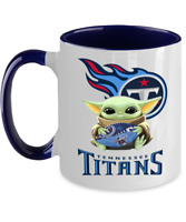 TITANS Blue Two Toned Coffee Mug, Tennessee TITANS Yoda Coffee Mug Gift