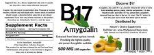 Amygdalin/B17 500mg 100 Capsules