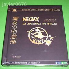 NICKY LA APRENDIZ DE BRUJA STUDIO GHIBLI COLLECTION DELUXE BLU-RAY + DVD + LIBRO