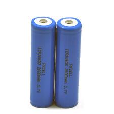 2pcs 18650 Lithium Li-ion Rechargeable Batteries 2600mAh 3.7V Button Top PKCELL