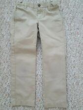 Lands' End Little Girl Solid Beige Uniform Long Pants - Size Us 5 (4 - 5 Years)